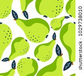 pears background. hand drawn... | Shutterstock .eps vector #1029738010