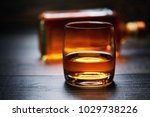 wooden table with single shots... | Shutterstock . vector #1029738226