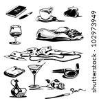 set of graphic black white... | Shutterstock .eps vector #102973949
