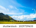wind turbine in the farm   Shutterstock . vector #1029739633