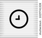 vector clock icon    vector eps ... | Shutterstock .eps vector #1029741328