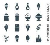 flavor icons. set of 16...   Shutterstock .eps vector #1029743374