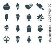 frozen icons. set of 16... | Shutterstock .eps vector #1029743470