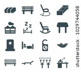 rest icons. set of 16 editable... | Shutterstock .eps vector #1029744058