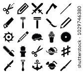 sharp icons. set of 25 editable ... | Shutterstock .eps vector #1029746380