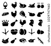 chicken icons. set of 25... | Shutterstock .eps vector #1029747460