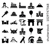 history icons. set of 25... | Shutterstock .eps vector #1029747568
