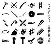 sharp icons. set of 25 editable ... | Shutterstock .eps vector #1029747628