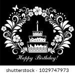 happy birthday card. birthday... | Shutterstock . vector #1029747973
