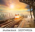 sky trains and mass... | Shutterstock . vector #1029749026