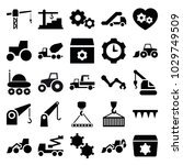 machinery icons. set of 25... | Shutterstock .eps vector #1029749509