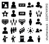 member icons. set of 25... | Shutterstock .eps vector #1029749593