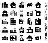 residential icons. set of 25... | Shutterstock .eps vector #1029749650