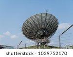 communication satellite dish | Shutterstock . vector #1029752170