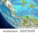 panama from orbit of planet... | Shutterstock . vector #1029752359