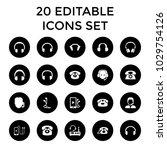 headphone icons. set of 20... | Shutterstock .eps vector #1029754126