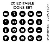 contour icons. set of 20... | Shutterstock .eps vector #1029754144