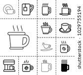 caffeine icons. set of 13...   Shutterstock .eps vector #1029755194