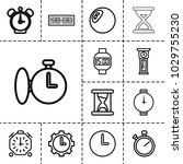 clock icons. set of 13 editable ... | Shutterstock .eps vector #1029755230