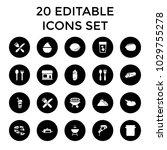 restaurant icons. set of 20...   Shutterstock .eps vector #1029755278