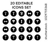 neck icons. set of 20 editable... | Shutterstock .eps vector #1029755368