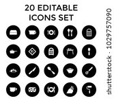 utensil icons. set of 20... | Shutterstock .eps vector #1029757090