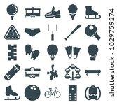 recreation icons. set of 25...   Shutterstock .eps vector #1029759274