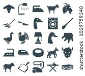 domestic icons. set of 25... | Shutterstock .eps vector #1029759340