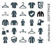 coat icons. set of 25 editable...   Shutterstock .eps vector #1029759418