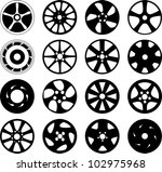 wheel disks | Shutterstock .eps vector #102975968