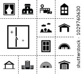 exterior icons. set of 13... | Shutterstock .eps vector #1029760630