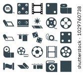 roll icons. set of 25 editable... | Shutterstock .eps vector #1029760738