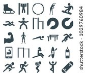 athlete icons. set of 25...   Shutterstock .eps vector #1029760984