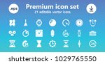 clock icons. set of 21 editable ... | Shutterstock .eps vector #1029765550