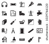 solid black vector icon set  ... | Shutterstock .eps vector #1029766120