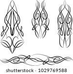 pinstripe design vinyl ready... | Shutterstock .eps vector #1029769588
