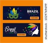 happy brazilian carnival day.... | Shutterstock .eps vector #1029769699