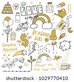 various object in doodle style   Shutterstock .eps vector #1029770410