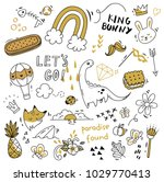 various object in doodle style | Shutterstock .eps vector #1029770413