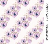 seamless delicate pattern of... | Shutterstock . vector #1029773320