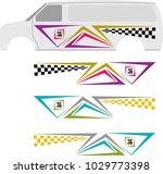 vehicle graphics  stripe  ... | Shutterstock .eps vector #1029773398