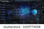 hi tech user interface head up... | Shutterstock . vector #1029774058