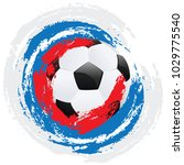 soccer or football ball and... | Shutterstock .eps vector #1029775540