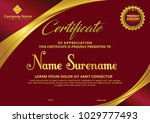 certificate template with... | Shutterstock .eps vector #1029777493
