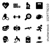 solid vector icon set   heart... | Shutterstock .eps vector #1029778210