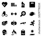 solid vector icon set   heart...   Shutterstock .eps vector #1029778210