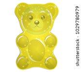 jelly bears  yellow | Shutterstock .eps vector #1029780979
