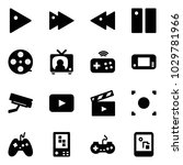 solid vector icon set   play... | Shutterstock .eps vector #1029781966
