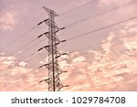 hight voltage electric towers... | Shutterstock . vector #1029784708
