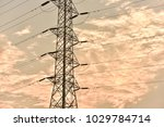 hight voltage electric towers... | Shutterstock . vector #1029784714